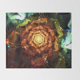 Submerged Flower Throw Blanket