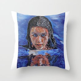 Marina of the Sea Throw Pillow