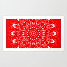 Red 2 Mandala Art Print