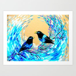 Bower Birds Art Print