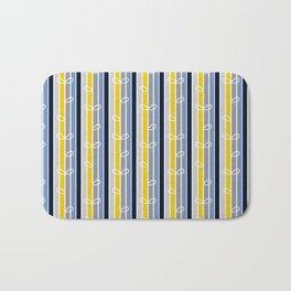flower stripe Bath Mat