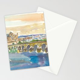 Cordoba Bridge and Mezquita in Andalusia Spain Stationery Cards