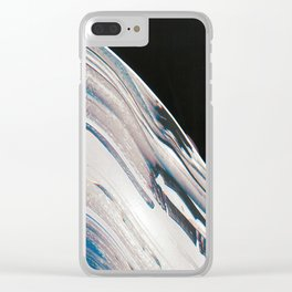 Space Time Blur Clear iPhone Case