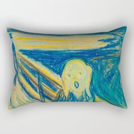 "Edvard Munch ""The Scream"" (1893)(pastel) Rectangular Pillow"