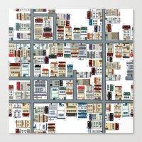 the neighbourhood Canvas Prints featuring Neighbourhood pattern by Rceeh