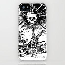 Alice's Dark Tea Party iPhone Case