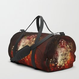 Awesome lion on vintage background Duffle Bag