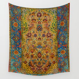 Hereke Vintage Persian Silk Rug Print Wall Tapestry
