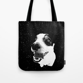 jack russell terrier dog space crazy va bw Tote Bag