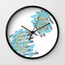 Diamond in the Ruff Wall Clock