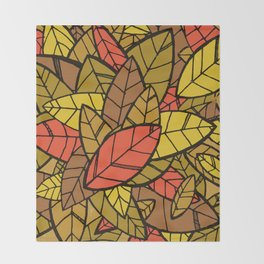 Autumn Memories (a pile of leaves) Throw Blanket