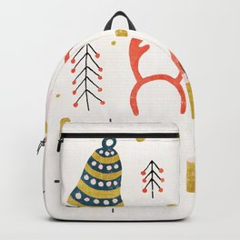 Christmas Card with Toys Backpack