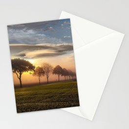 Big sky and clouds on a picture perfect night color photography - photographs Stationery Cards