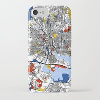 baltimore iPhone & iPod Cases featuring Baltimore Mondrian by Mondrian Maps
