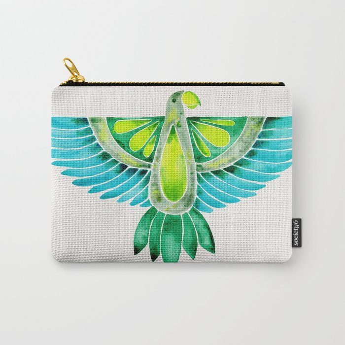 Parrot – Blue & Green Carry-All Pouch
