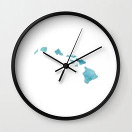 Watercolor Hawaii Wall Clock