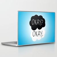 fault in our stars Laptop & iPad Skins featuring OKAY? OKAY. The Fault in Our Stars by Alan Lima