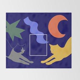 Cat Pose Throw Blanket