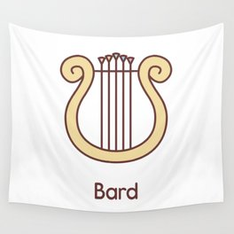 Cute Dungeons and Dragons Bard class Wall Tapestry