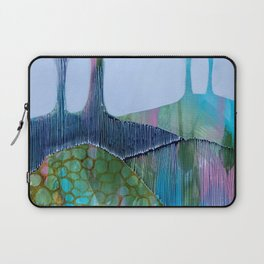 Day 13 In The Woods, Contemporary Abstract Landscape Laptop Sleeve