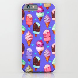 Popsicles and Ice Cream - Purple iPhone Case