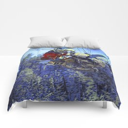 Motocross Dirt-Bike Championship Race Comforters