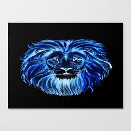 Leão em neon Canvas Print