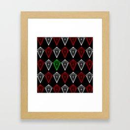 Diamonds Rubies and sapphire Framed Art Print