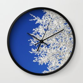 Frosty Tree Wall Clock