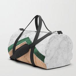 Arrows - White Marble, Green Granite & Wood #941 Duffle Bag