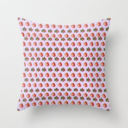 Cool strawberries Throw Pillow