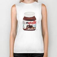nutella Biker Tanks featuring Nutella by Angela Dalinger