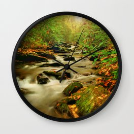 Fall Along Rock Castle Wall Clock