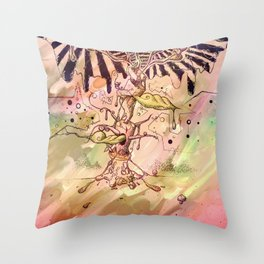 Magic Beans (Alternate colors version) Throw Pillow