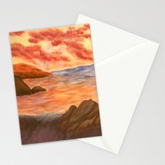 Beach Sunset Stationery Cards