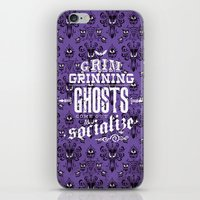 haunted mansion iPhone & iPod Skins featuring Haunted Mansion - Grim Grinning Ghosts by tonysimonetta
