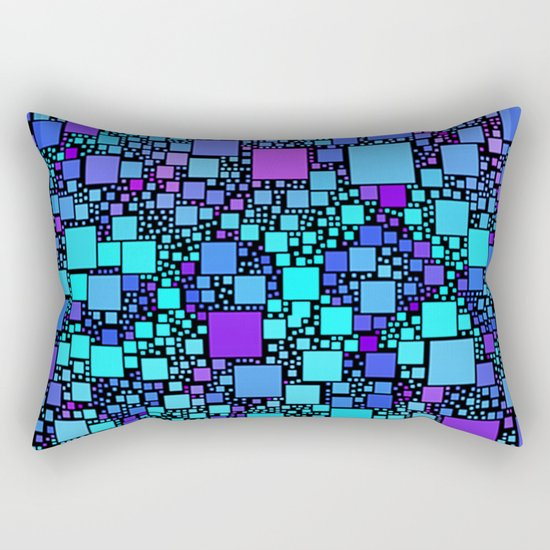 Post It Blue Rectangular Pillow