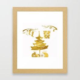 Gold Christmas 03 Framed Art Print