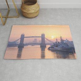 Tower Bridge Sunrise, London Rug
