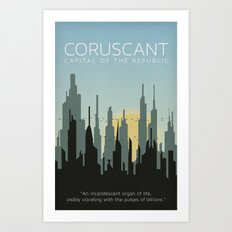 Star Wars Coruscant Republic Capital Art Print