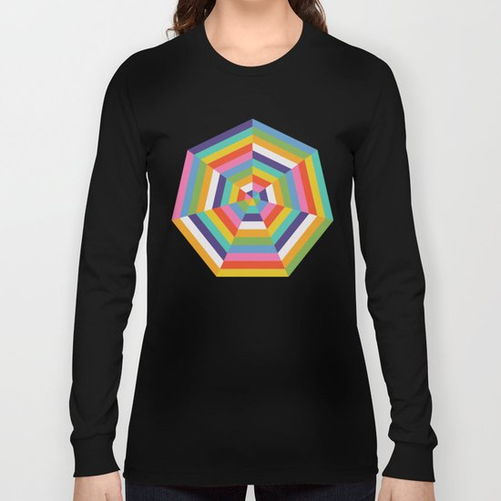 Heptagon Quilt 4 Long Sleeve T-shirt