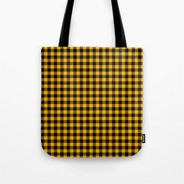 Original Goldenrod Yellow and Black Rustic Cowboy Cabin Buffalo Check Tote Bag