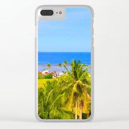Beautiful Beach Clear iPhone Case