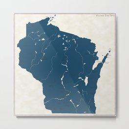 Wisconsin Parks - v2 Metal Print