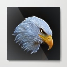 Fractal Bald Eagle Metal Print