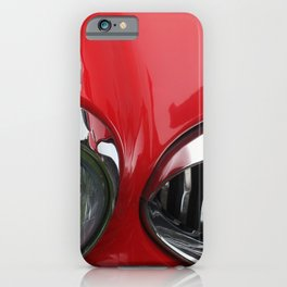 red and chrome - vintage 1960s sports car iPhone Case
