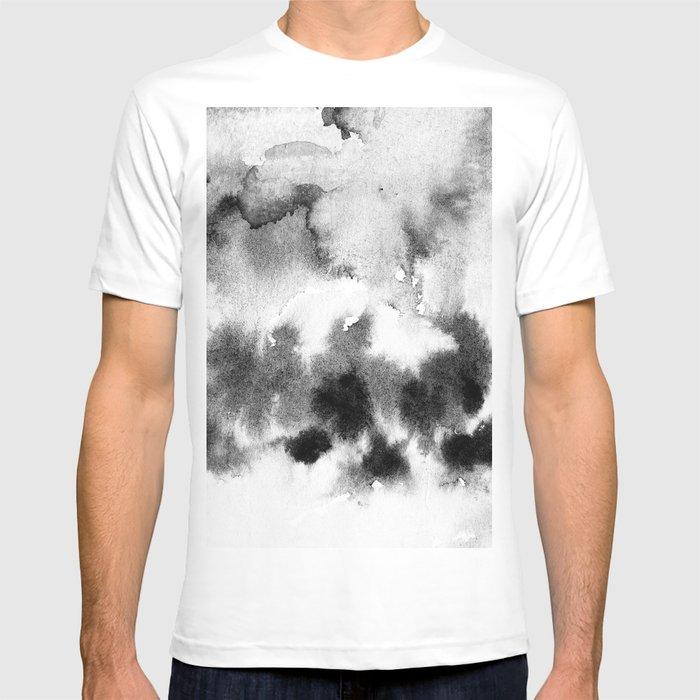 MINIMAL BLACK AND WHITE SPLATTER PATTERN T-shirt
