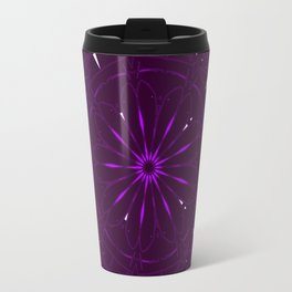 Psychadelic Space Mandala - Blackberry Travel Mug
