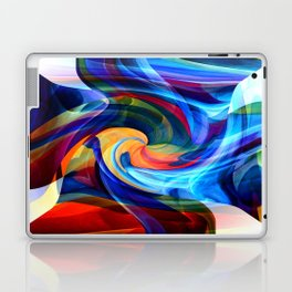 This Kiss Digital Abstract Art By Annie Zeno Laptop & iPad Skin