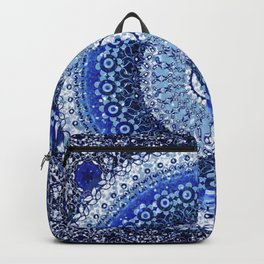 Cobalt Tapestry Mandala Backpack